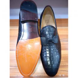 JOHN FOSTER CORPORATE PATTERNED MEN SHOE|BLACK(AVAILABLE IN ALL SIZEES)