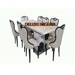 Exquisite Marble Dinning With 8 Chairs