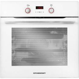 Kitchen Craft 60cm Built In Electric Oven White - Illuminated Knobs -Smart Series - Boi625w