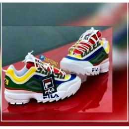 FILA DESIGNER MULTI COLOUR MEN'S BREATHABLE SNEAKERS (AVAILABLE IN ALL SIZES)