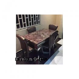 Marble Tinzel Dining Set Furniture+ 4 Sitting Chairs