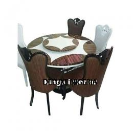 Round Marble Dinning With 6 Chairs