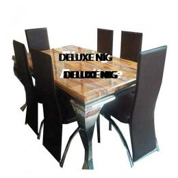 Classic Marble Dinning With 6 Chairs (IV)
