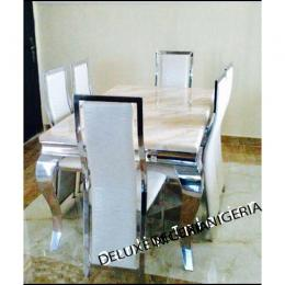 Marble Dining Table +6 Sitting Chairs