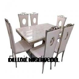 Marble Tital Dining Set Furniture + 6 Dinning Chairs