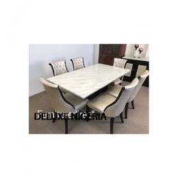 Marble Octin Dinning Set Furniture + 6 Dining Chairs