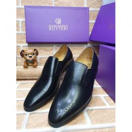 GIANFRANCO BUTTERI HIGH QUALITY LUXURY MEN'S SHOE (AVAILAIBLE IN ALL SIZES) 360