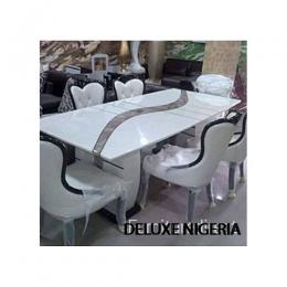 Marble Exquisite Dinning Set Furniture + 6 Sitting Chairs