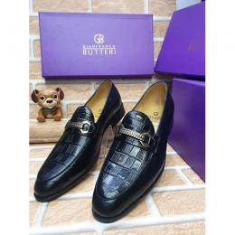 GIANFRANCO BUTTERI HIGH QUALITY LUXURY MEN'S SHOE (AVAILAIBLE IN ALL SIZES) 378