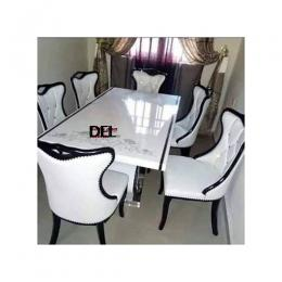 Exquisite Marble Dinning With 6 Chairs (I)
