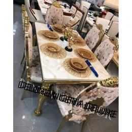 Marble Dining Table Marble With Six Chair (I)