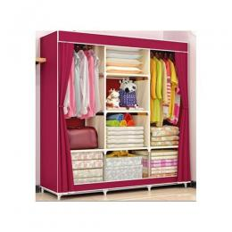 3 Columns 8 Compartments Mobile Steel Wardrobe