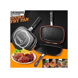 Dessini Italian Double Sided Grill NonStick Fry Pressure Pan|40cm