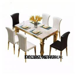 Marble Dining Table Marble With Six Chair (II)