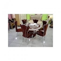 Marble Grafel Dinning Set Furniture + 6 Dining Chairs