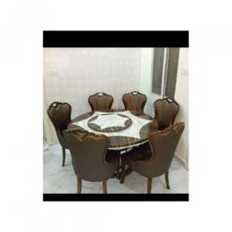 Marble Bronlynx Dining Set Furniture + 6 Dinning Chair