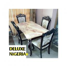 Executive Marble Dinning With 4 Chairs