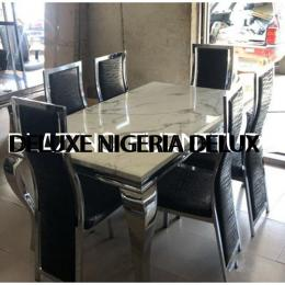 Glamorous Marble Dinning With 6 Chairs