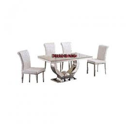 Classic Marble Dinning With 6 Chairs (V)