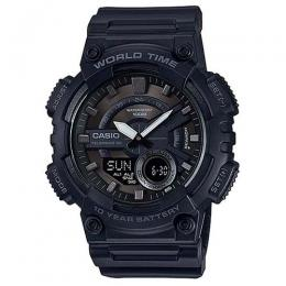CASIO AEQ110W-1BV MEN'S ANALOG DIGITAL COMBINATION WORLD TIME RESIN WATCH