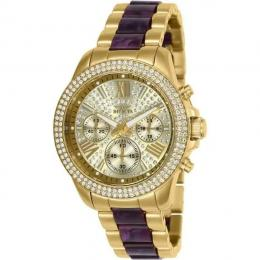 INVICTA 20508 WOMEN'S ANGEL QUARTZ 3 HAND GOLD DIAL TWO-TONE WATCH
