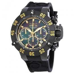 INVICTA 22920 MEN'S SUBAQUA QUARTZ CHRONOGRAPH BLACK, GOLD DIAL LARGE SIZE WATCH