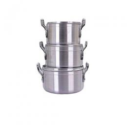 Hoffner Quality Cookware Pot Set 3pcs - 22cm/24cm/26cm