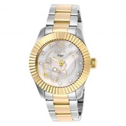 INVICTA 27441 WOMEN'S ANGEL CRYSTAL WHITE MOTHER OF PEARL DIAL WATCH