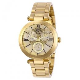 INVICTA 28926 WOMEN'S ANGEL QUARTZ 3 HAND OYSTER GOLD DIAL WATCH
