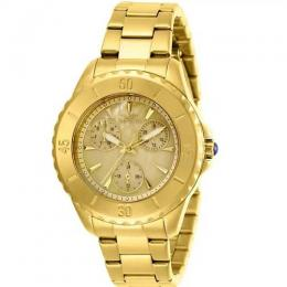 INVICTA 29107 WOMEN'S ANGEL STAINLESS STEEL OYSTER GOLD DIAL WATCH