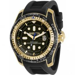 INVICTA 29584 MEN'S HYDROMAX QUARTZ 3 HAND BLACK DIAL WATCH