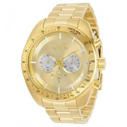 INVICTA 30789 MEN'S SPEEDWAY QUARTZ CHRONOGRAPH SILVER, GOLD DIAL WATCH