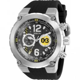 INVICTA MEN'S 31579 AVIATOR BLACK DIAL, SILICONE LARGE WATCH