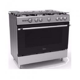 Midea Gas Cooker 90X60cm 5 Burners - 36LMG5G024-S Inox