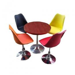 4-Seater Dining Set (Multicolour)