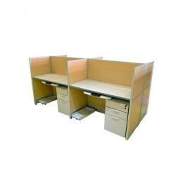 4-Seater Workstation with pedestals