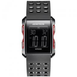 ARMITRON 40/8177RED Men's Digital Chronograph Black Strap Small Size Watch