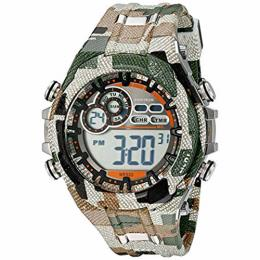 Armitron 40/8188MIL Men's Digital Chronograph Camouflage Patterned Resin Strap Watch