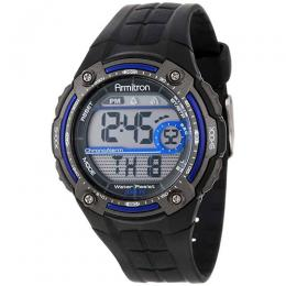 ARMITRON 40/8189BLU Men's Black Digital Chronograph Sport Watch