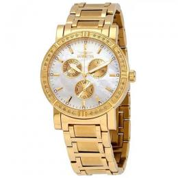 INVICTA 4743 WOMEN'S WILDFLOWER QUARTZ CHRONOGRAPH WHITE DIAL WATCH