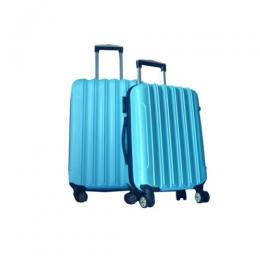 4 wheel ABS Luggage Travel Luggage (Blue)