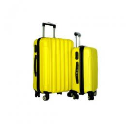 4 wheel ABS Luggage Travel Luggage (yellow)