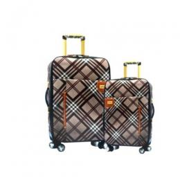 4 wheel Fashion Plaid luggage 2-Piece Set