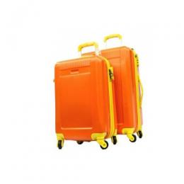 4 wheel trolley ABS luggage (orange)
