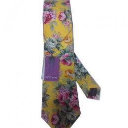 LUXURY YELLOW FLORAL NECK TIE