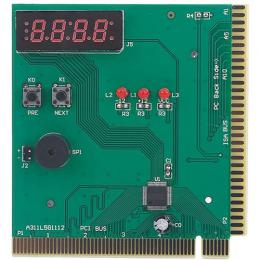 PC Motherboard Diagnostic Card 4-Digit Card PC Analyzer Computer Diagnostic Motherboard Post Tester for PCI & ISA Analyzer Tester Diagnostic Card (DW)