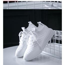 Fashion Breathable Men's Sneakers Shoes-White