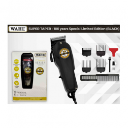 Wahl Professional 100 Years Limited Edition |80619-027| Black Super Taper Corded Hair Clipper (NN)