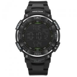 ARMITRON 40/8254BLK Men's Digital Chronograph Watch with Black Resin Strap