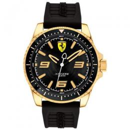 FERRARI 830485 MEN'S XX KERS GOLD TONE STEEL BLACK DIAL RUBBER WATCH